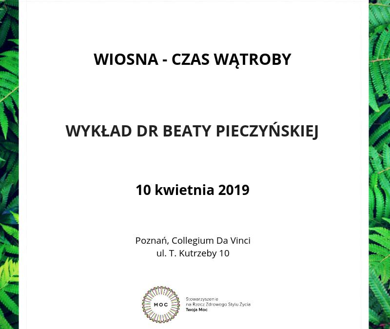 Wiosna – czas wątroby – wykład w Poznaniu