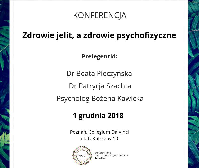 Zdrowie jelit a zdrowie psychofizyczne – Konferencja w Poznaniu