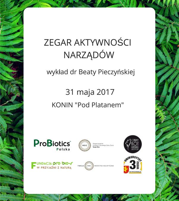 Zegar Aktywności Narządów – wykład dr Beaty Pieczyńskiej